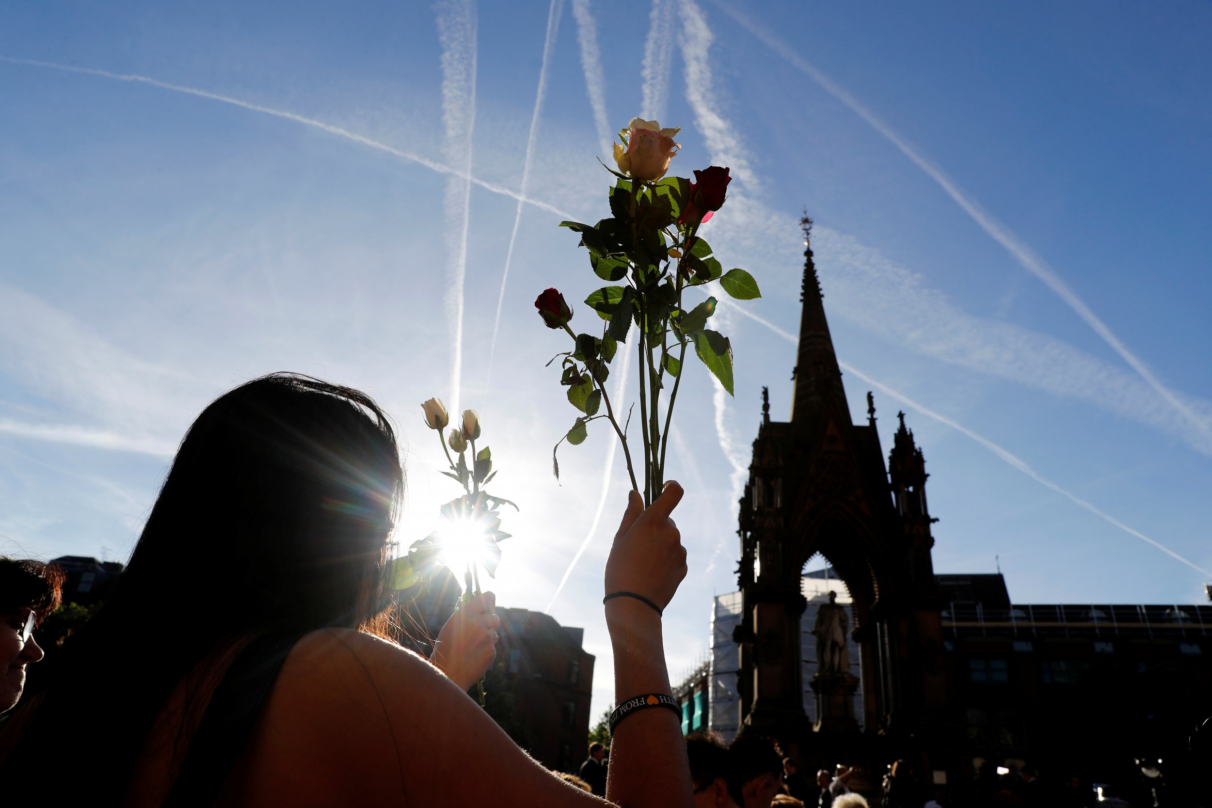 vigil for manchester attack, united kingdom