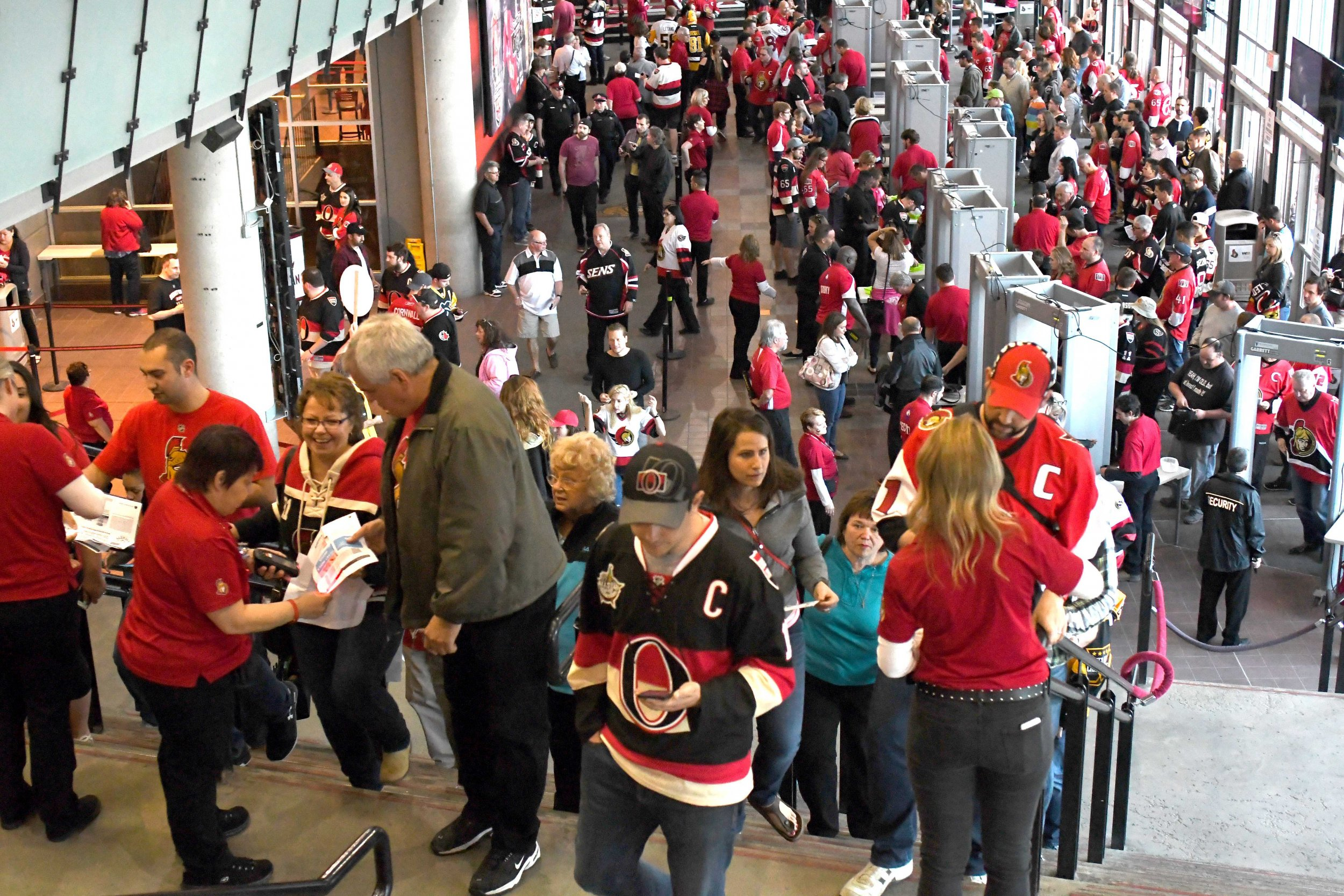 Hockey fans at Canadian Tire Centre, Ottawa, Canada, May 23.