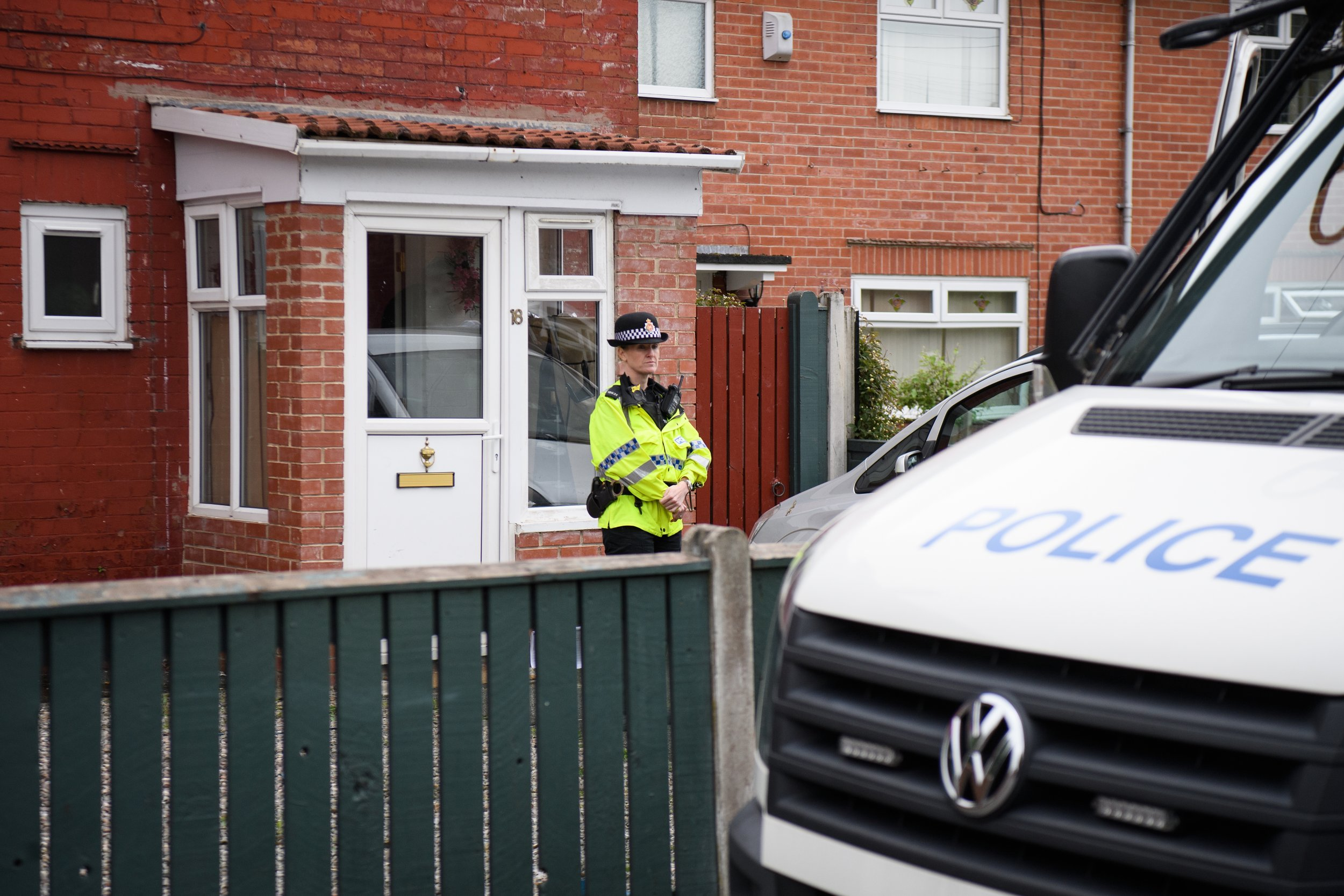 Manchester police at property