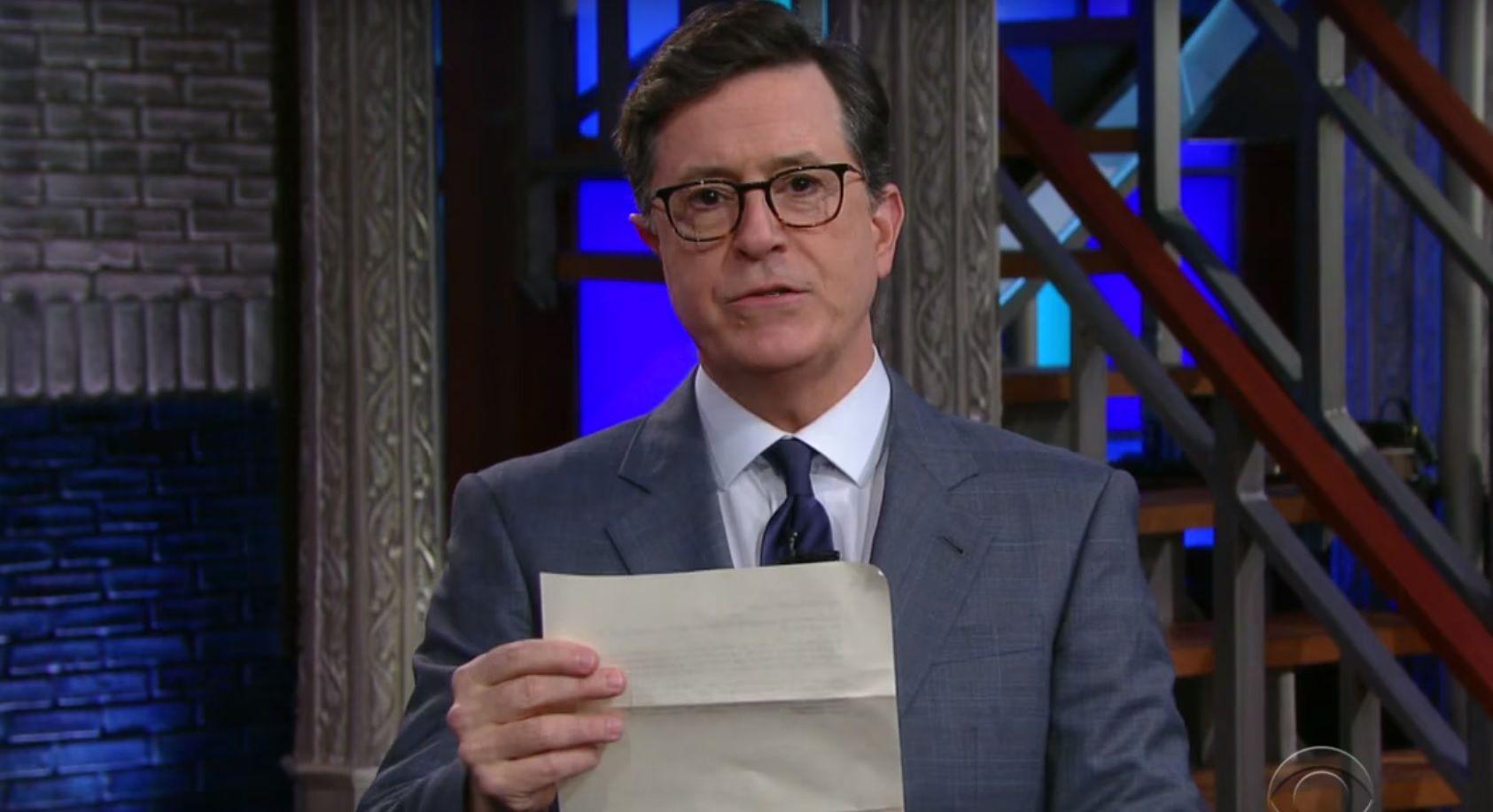 Stephen Colbert's intervention for Trump