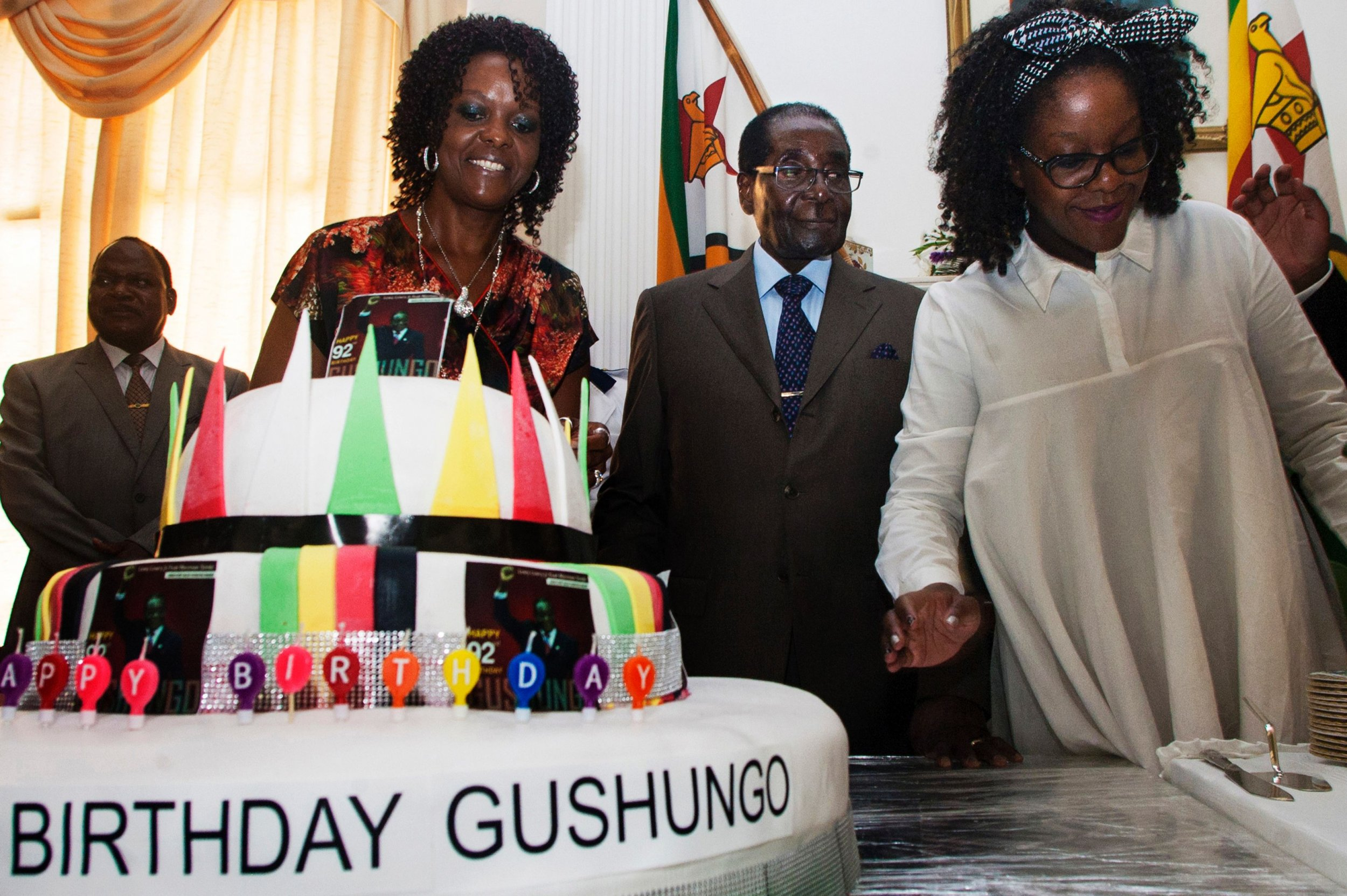 Robert Mugabe birthday cake