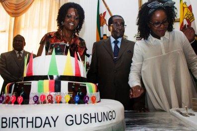 Robert Mugabe birthday cake