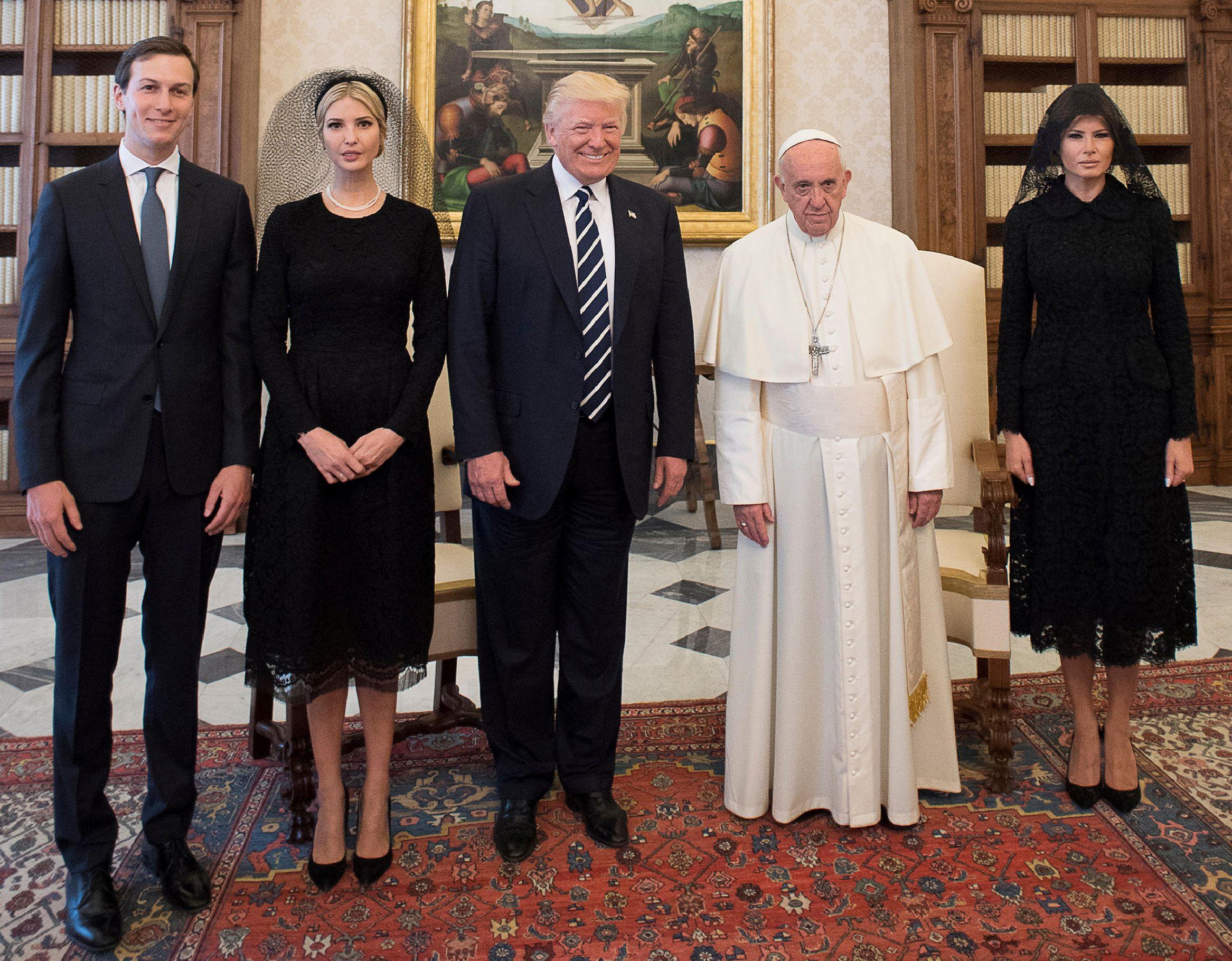 Pope Trump audience