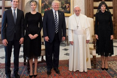Pope Trump audience