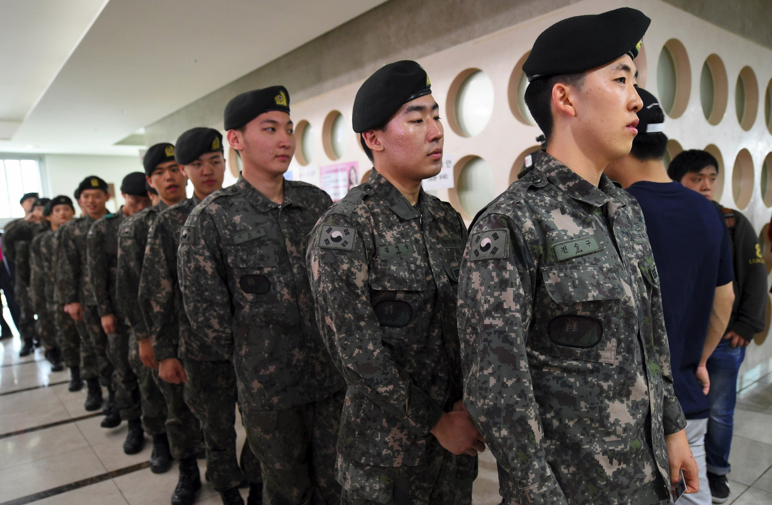 South Korean soldiers