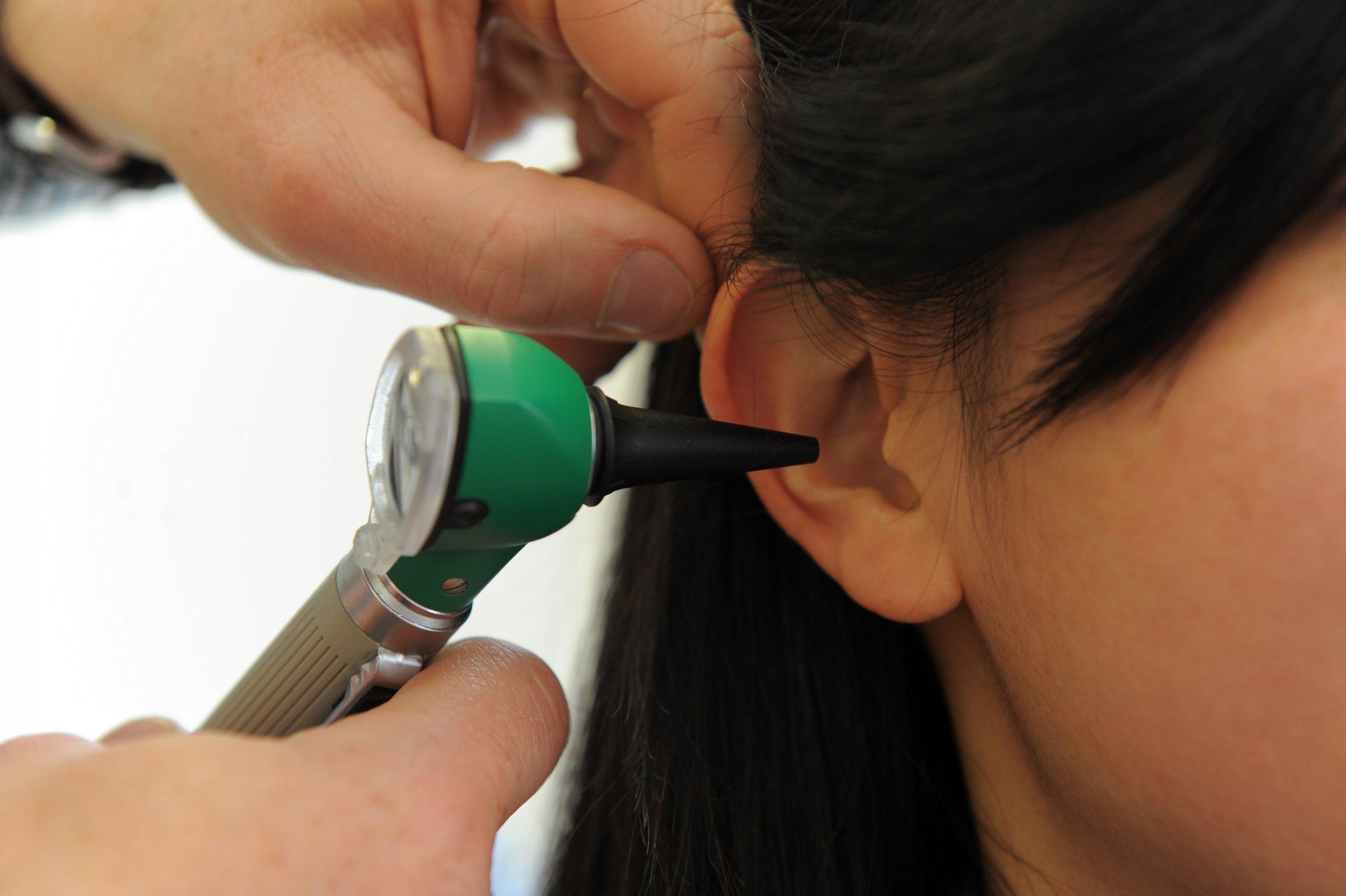 patient's ear