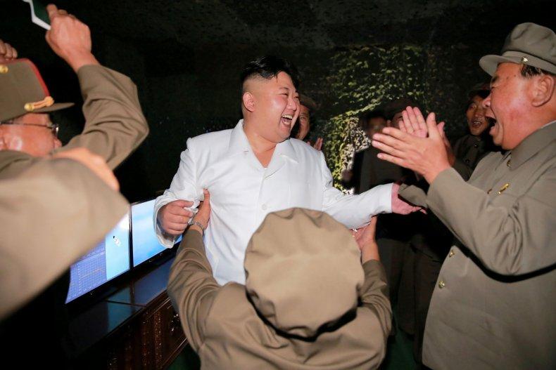 Kim Jong Un celebrates