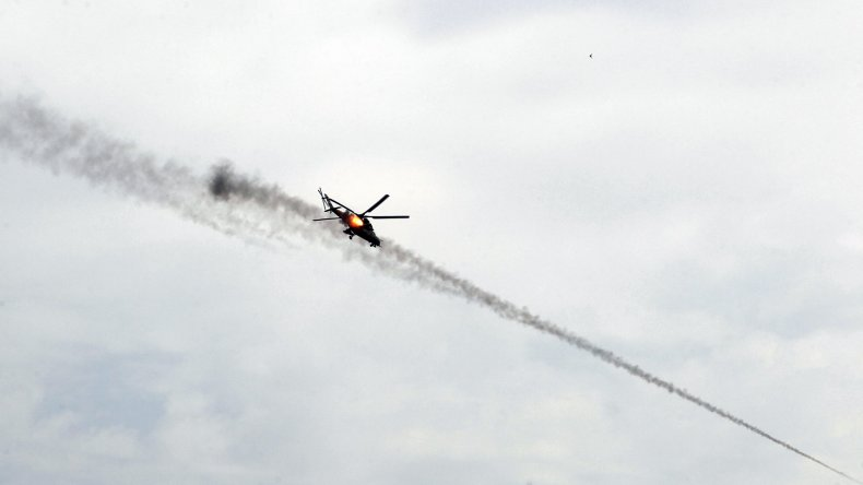 Mosul helicopter fire