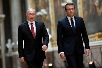 Vladimir Putin Emmanuel Macron