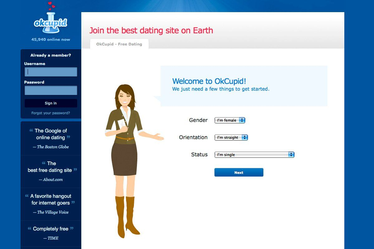 Online dating statistics okcupid visitors