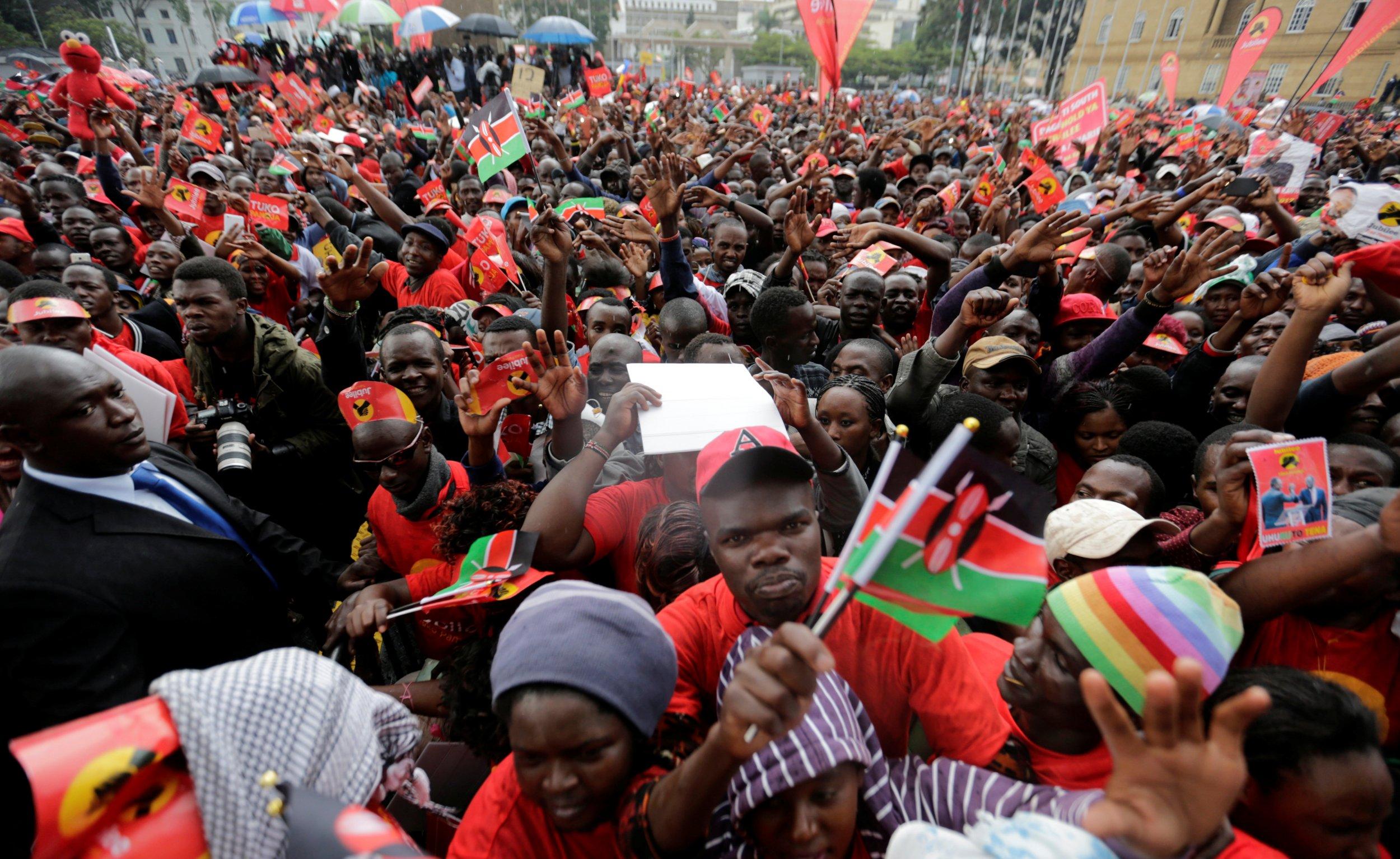 Kenya Uhuru Kenyatta supporters