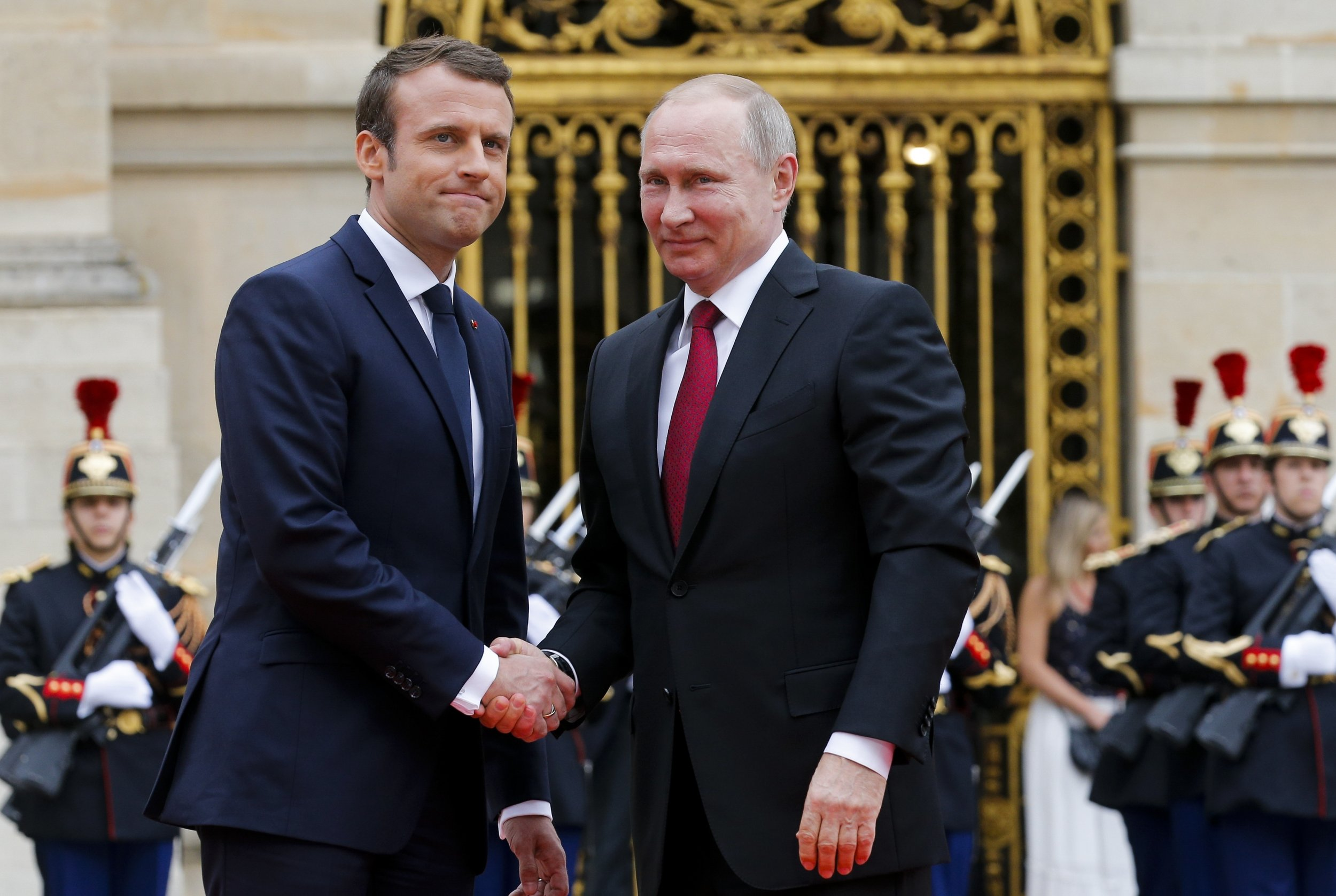 Macron Meets Putin And Blasts Russian State Owned Media As Lying Propaganda