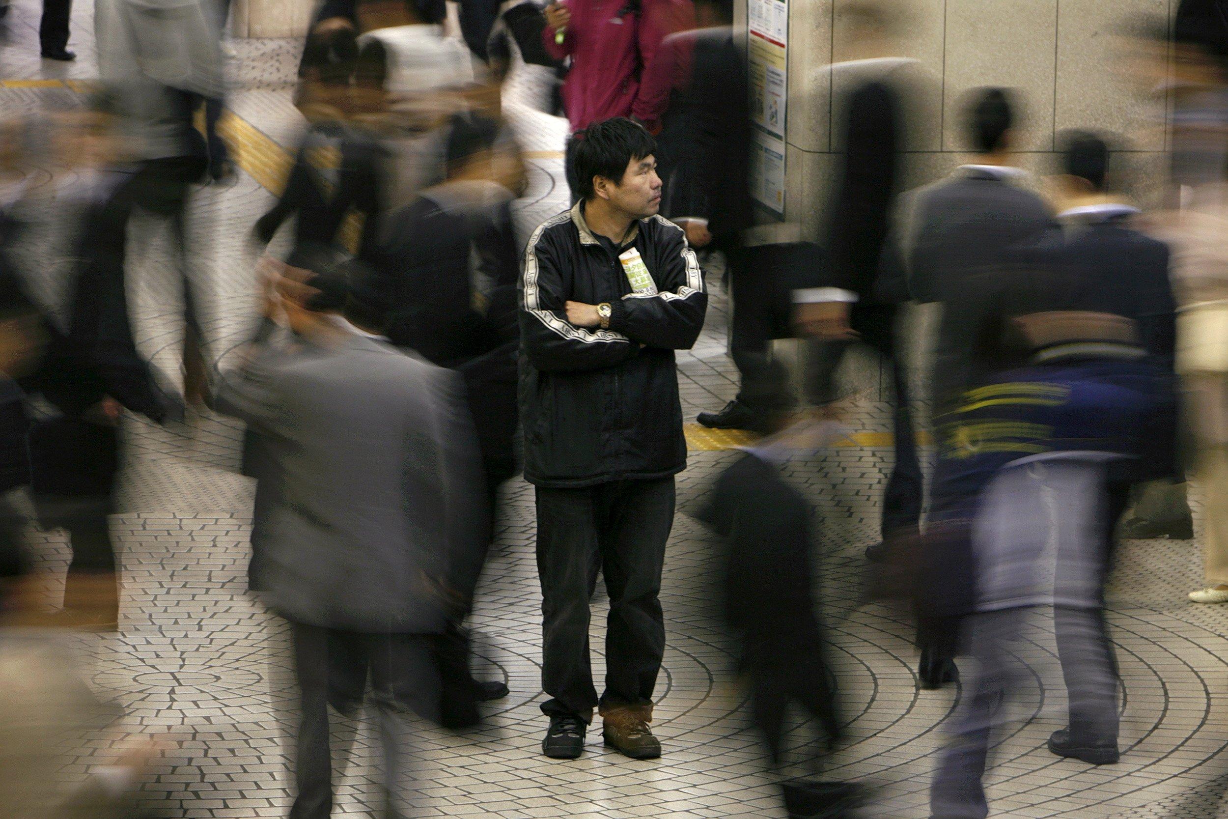 Japanese at Shinjuku station