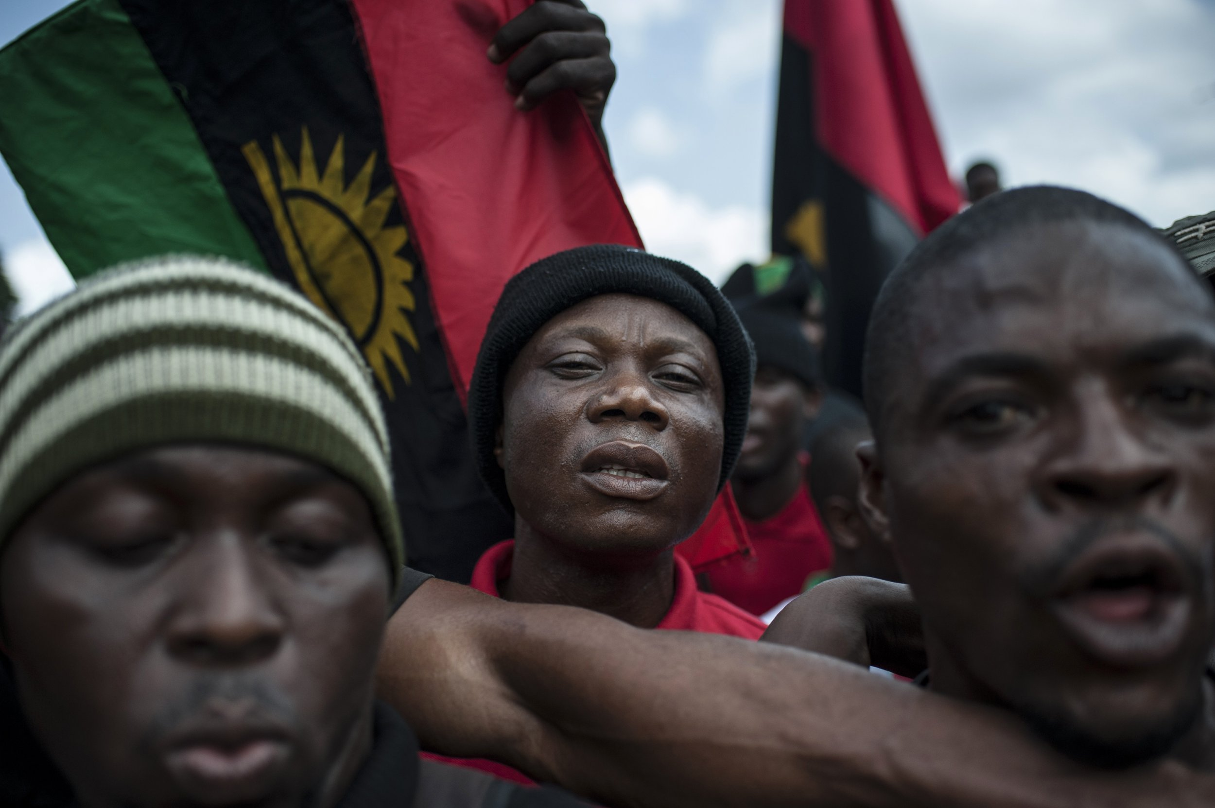 Biafra demonstration in Aba
