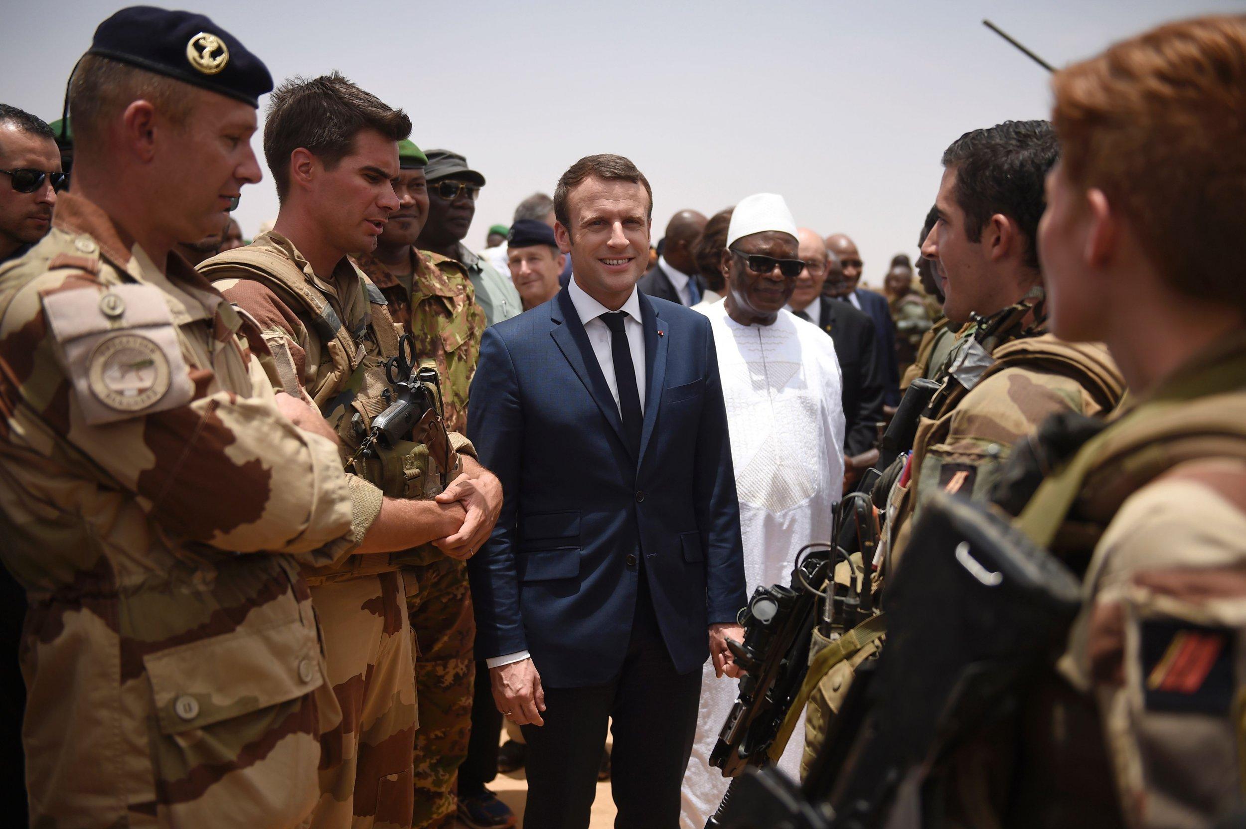 Emmanuel Macron in Mali