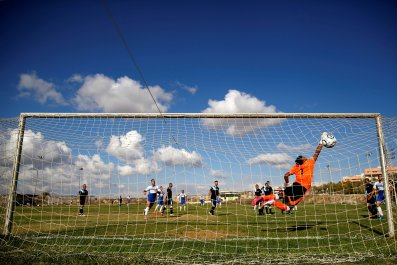 Ariel settlement's soccer tream