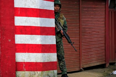 Government soldier in Marawi