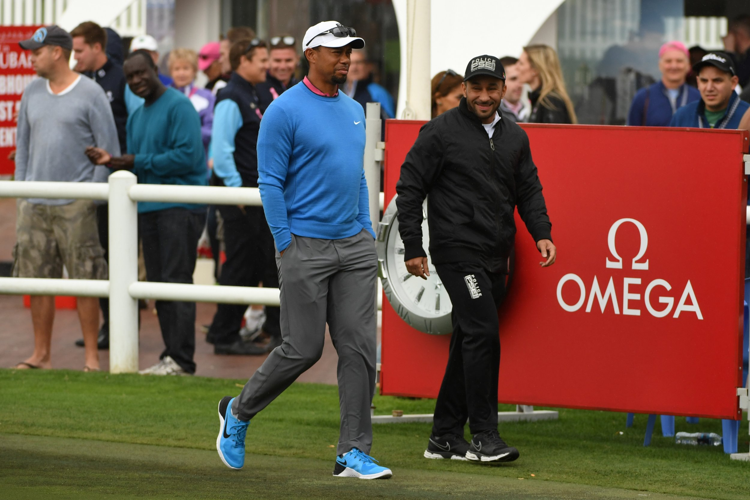 Tiger Woods of the United States makes his way to the clubhouse during the second round of the Omega Dubai Desert Classic at Emirates Golf Club on February 3, 2017 in Dubai, United Arab Emirates.