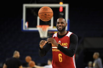 Cleveland Cavaliers small forward LeBron James.
