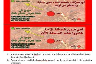 Syria leaflets