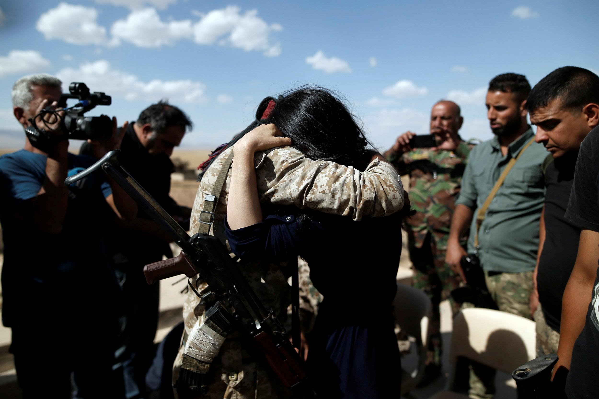 Nadia Murad reunited with her brother.