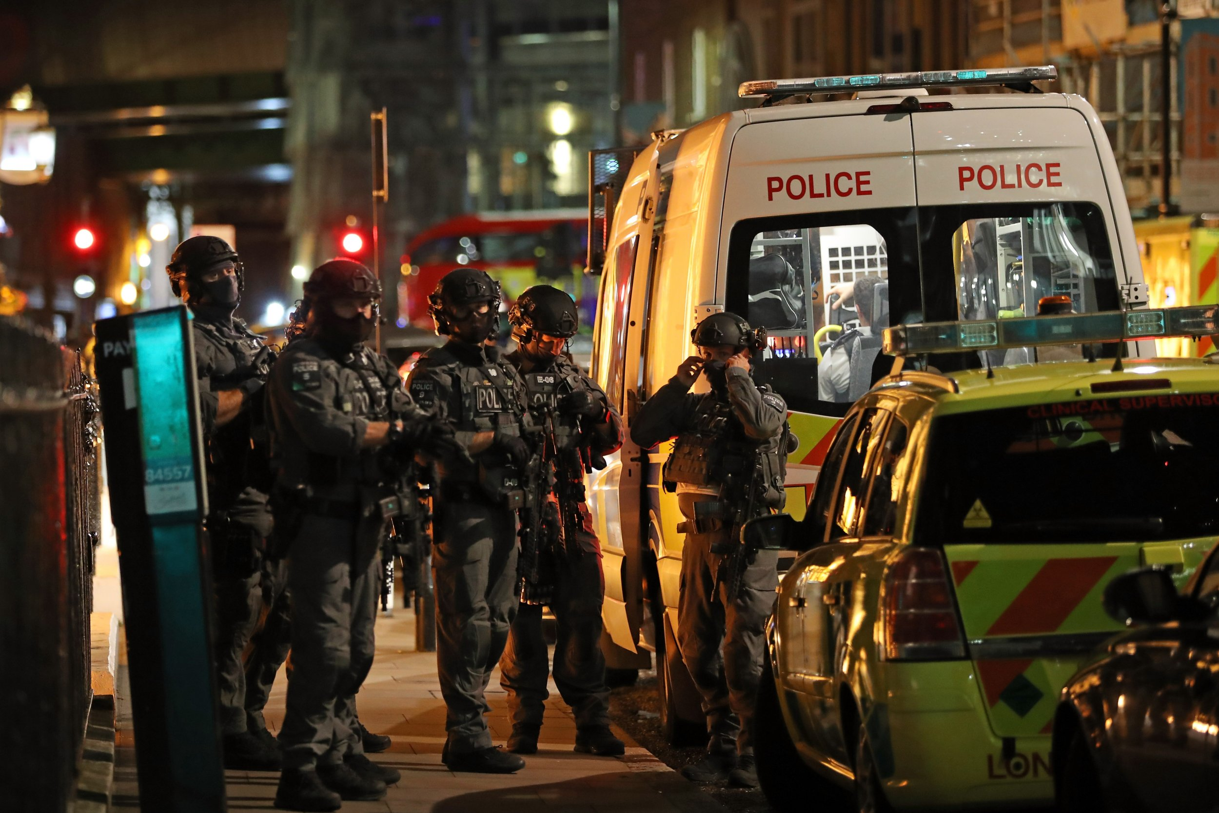 Counter-terror forces in London