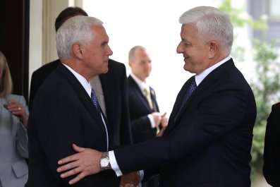 Mike Pence and Montenegro PM