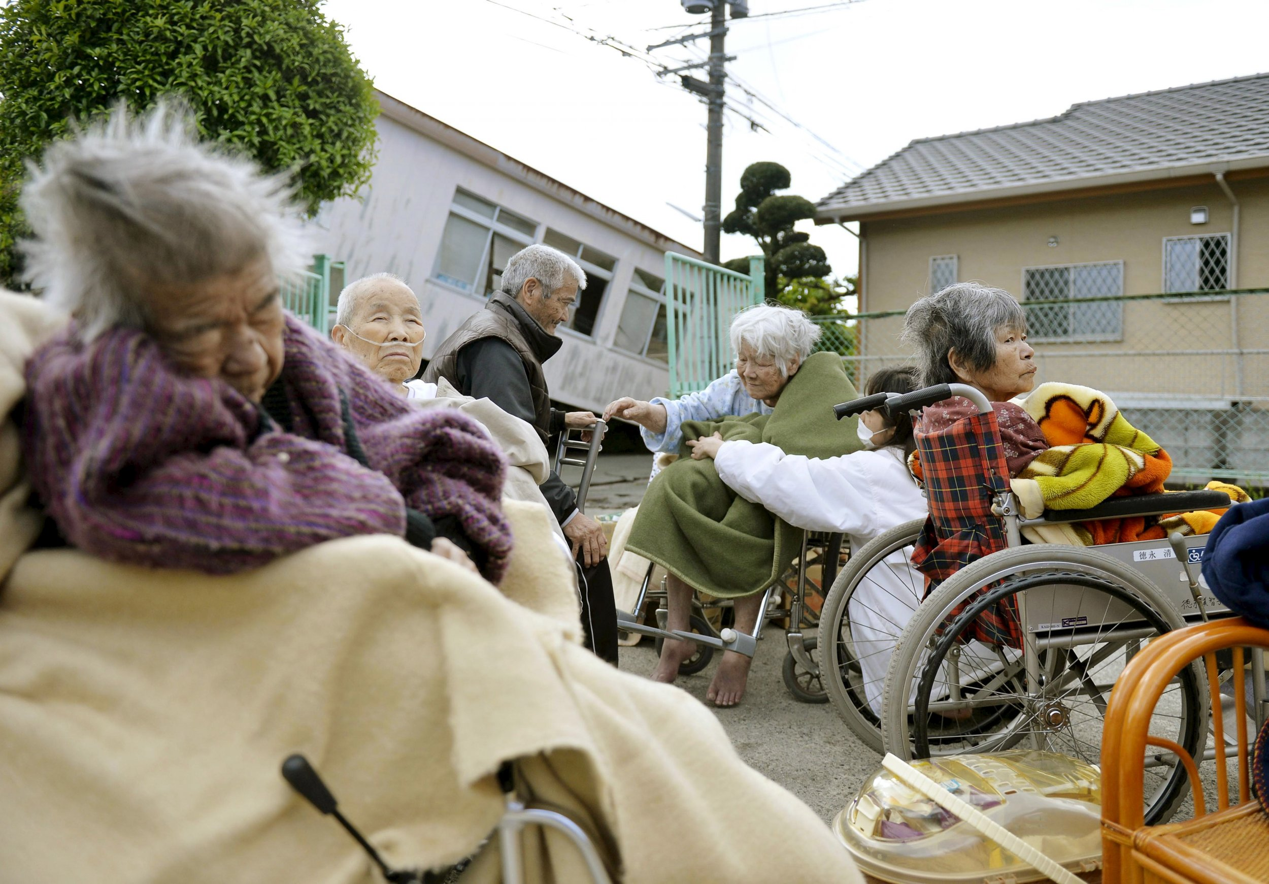 Nursing home old people