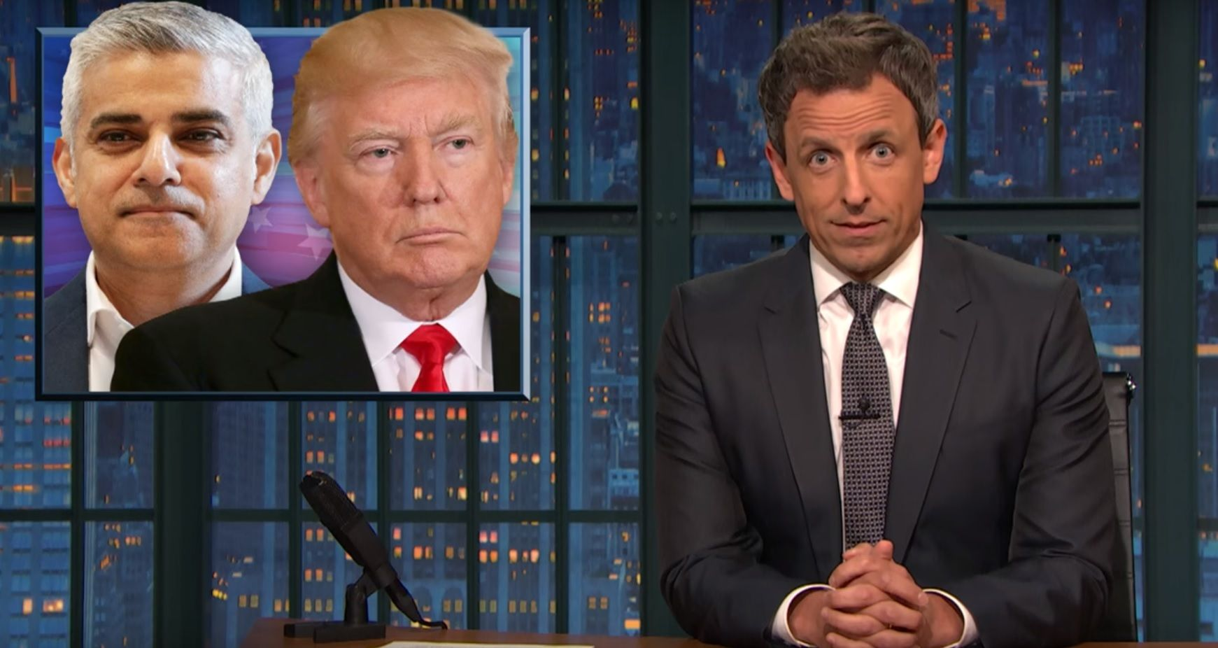 Seth Meyers on Trump slamming Sadiq Khan