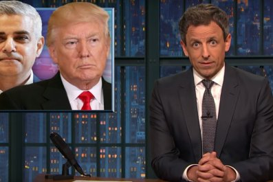 Seth Meyers on Trump slamming Sadiq Khan