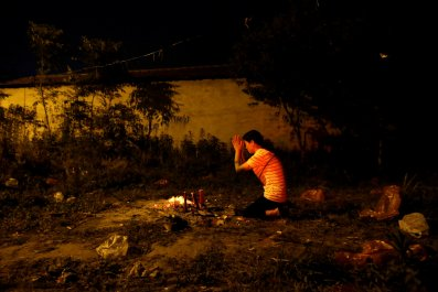 Woman prays China