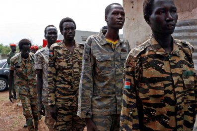 South Sudan soldiers