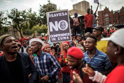 South Africa Zuma protest