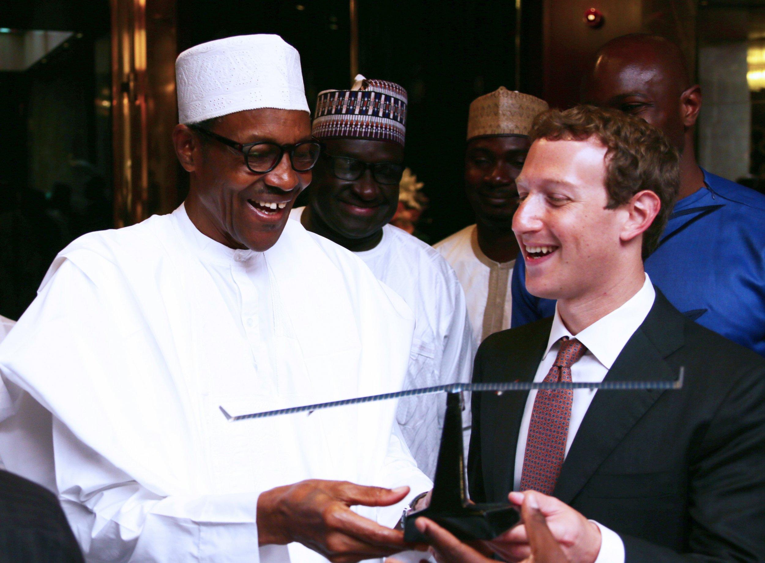 Buhari and Zuckerberg