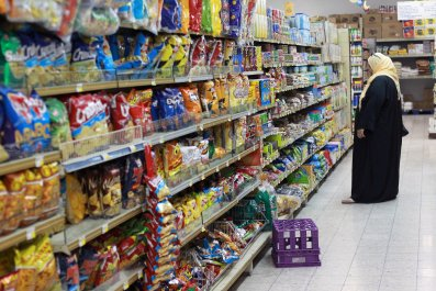 Supermarket in Doha, Qatar, after Gulf diplomatic crisis
