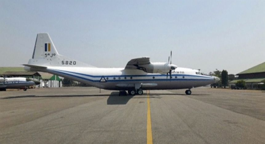 Myanmar plane