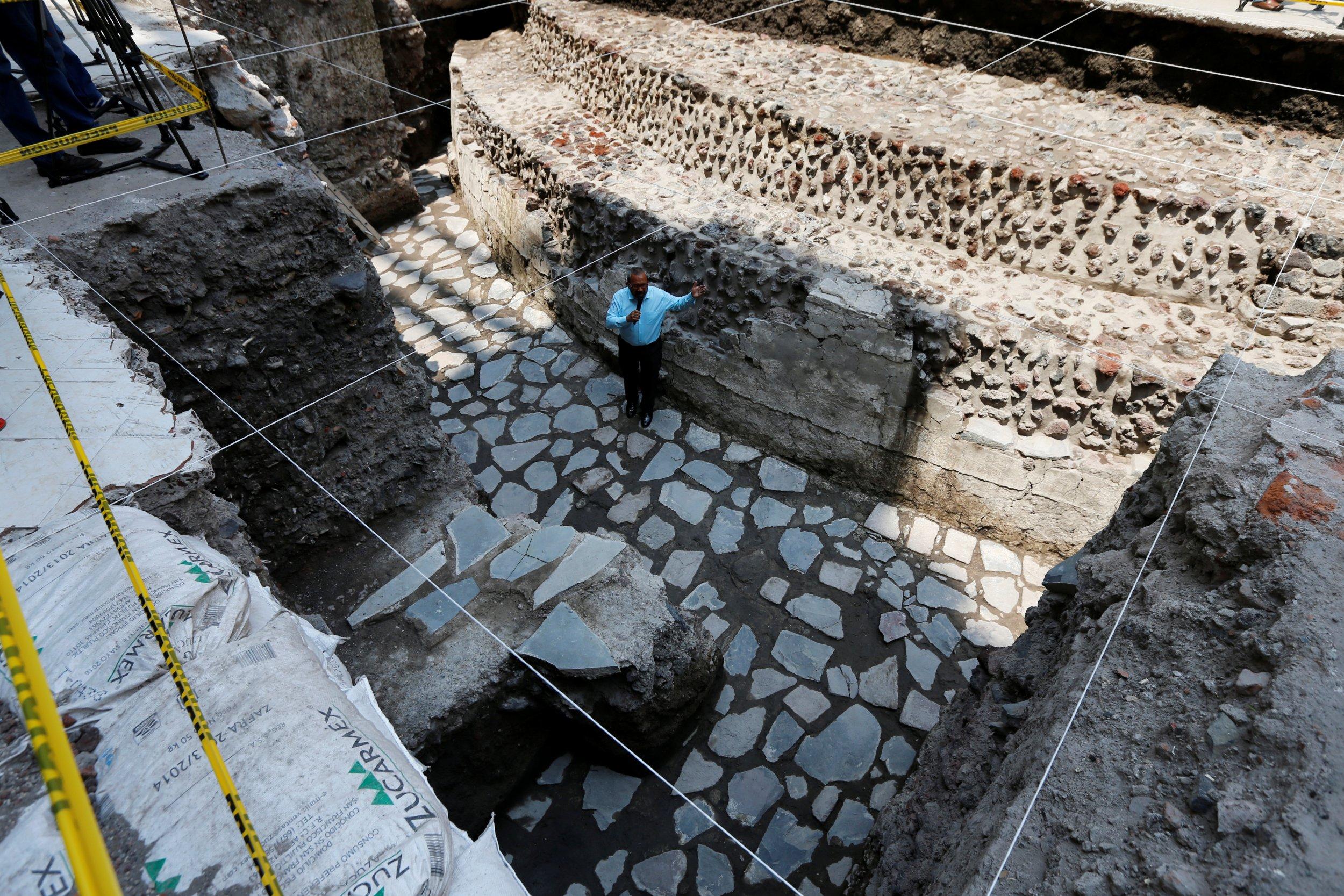 Aztec archaeology site