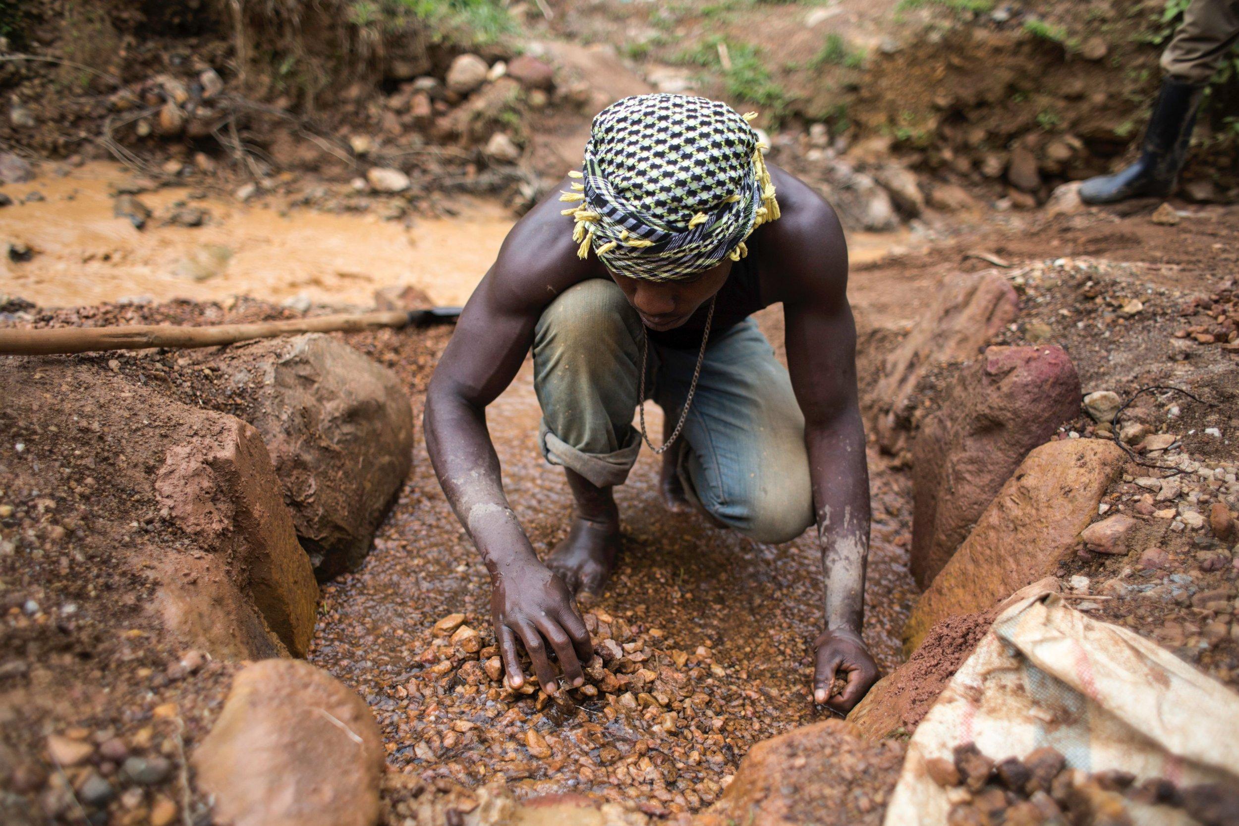 Congo artisanal miner