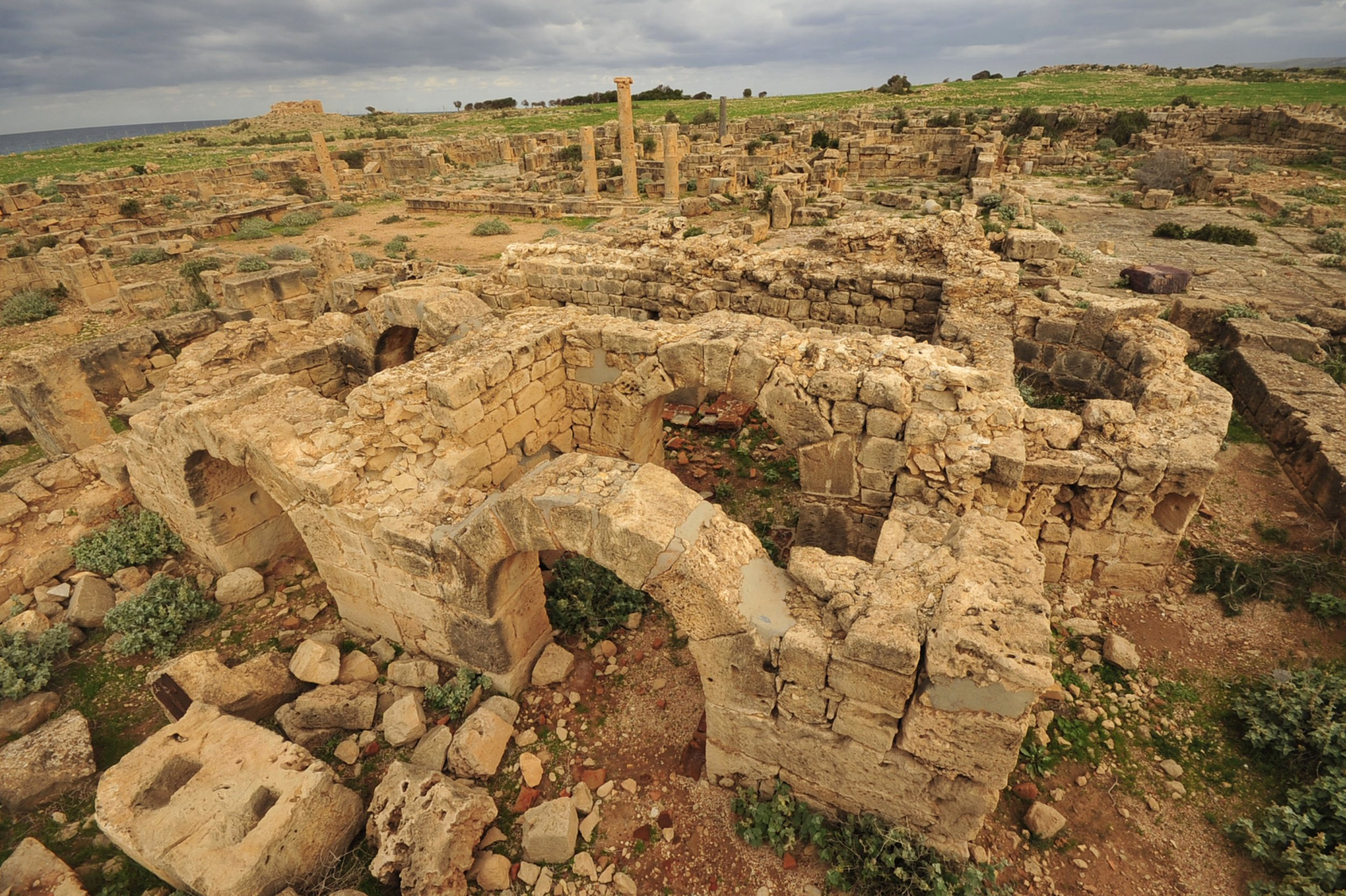 A part of the ancient city of Ptolemais, Libya