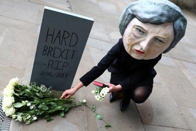Theresa May protester