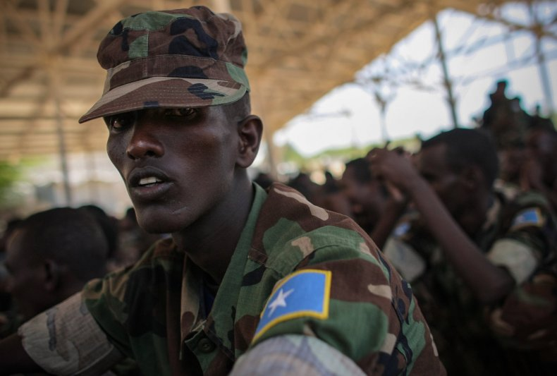 Somalia soldier passing out