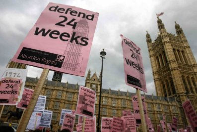 Pro-choice protest at the Houses of Parliament