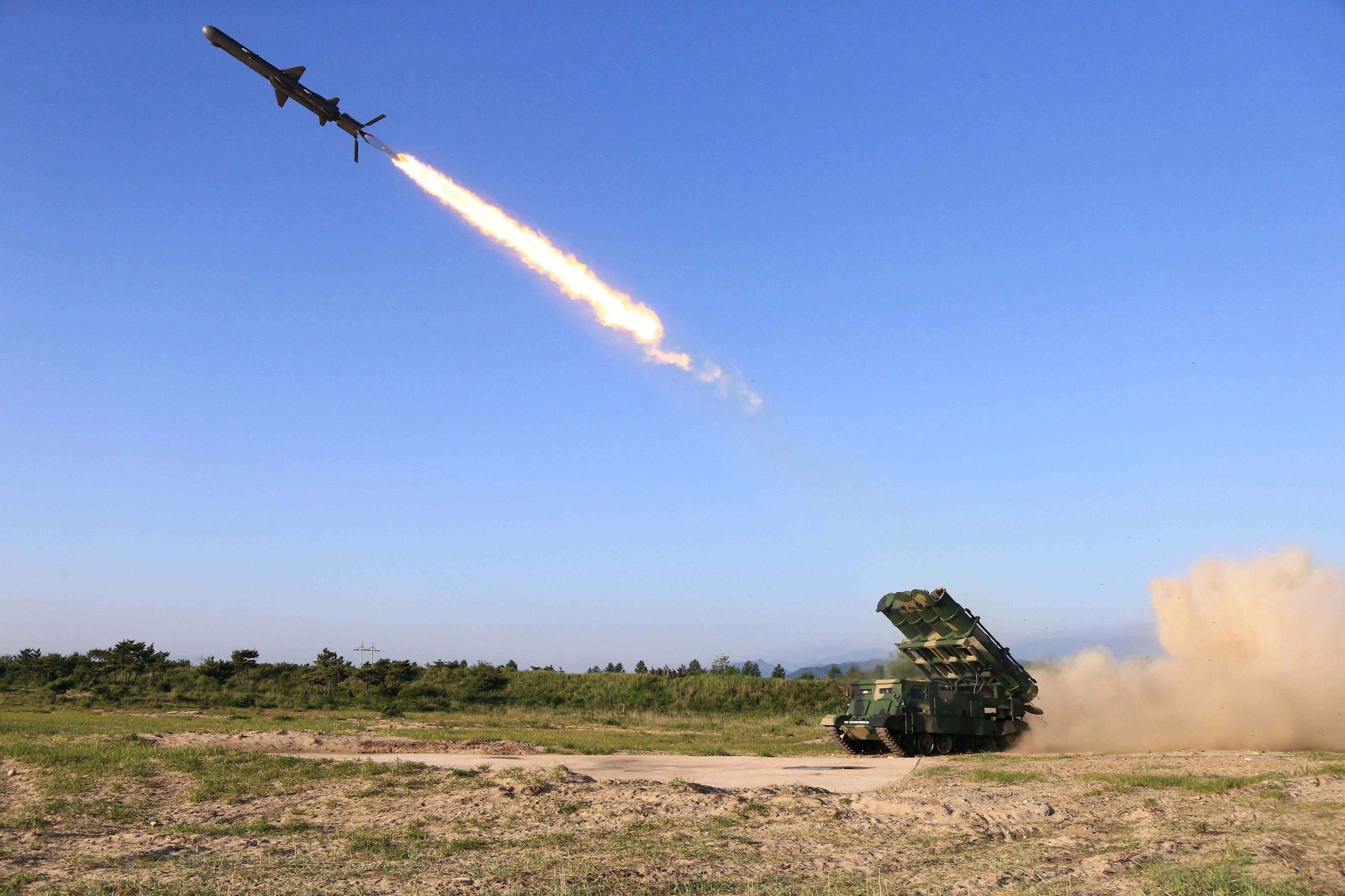 A cruise rocket launch