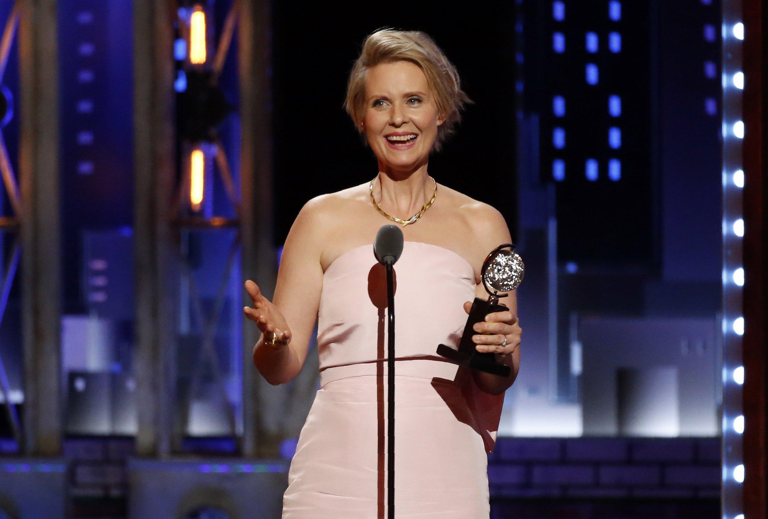 Cynthia Nixon at the Tony Awards
