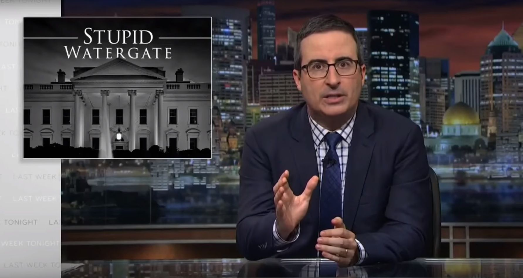 John Oliver on Trump and Comey hearing
