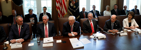 Trump Finally Holds First Full Cabinet Meeting, Almost Two Months ...