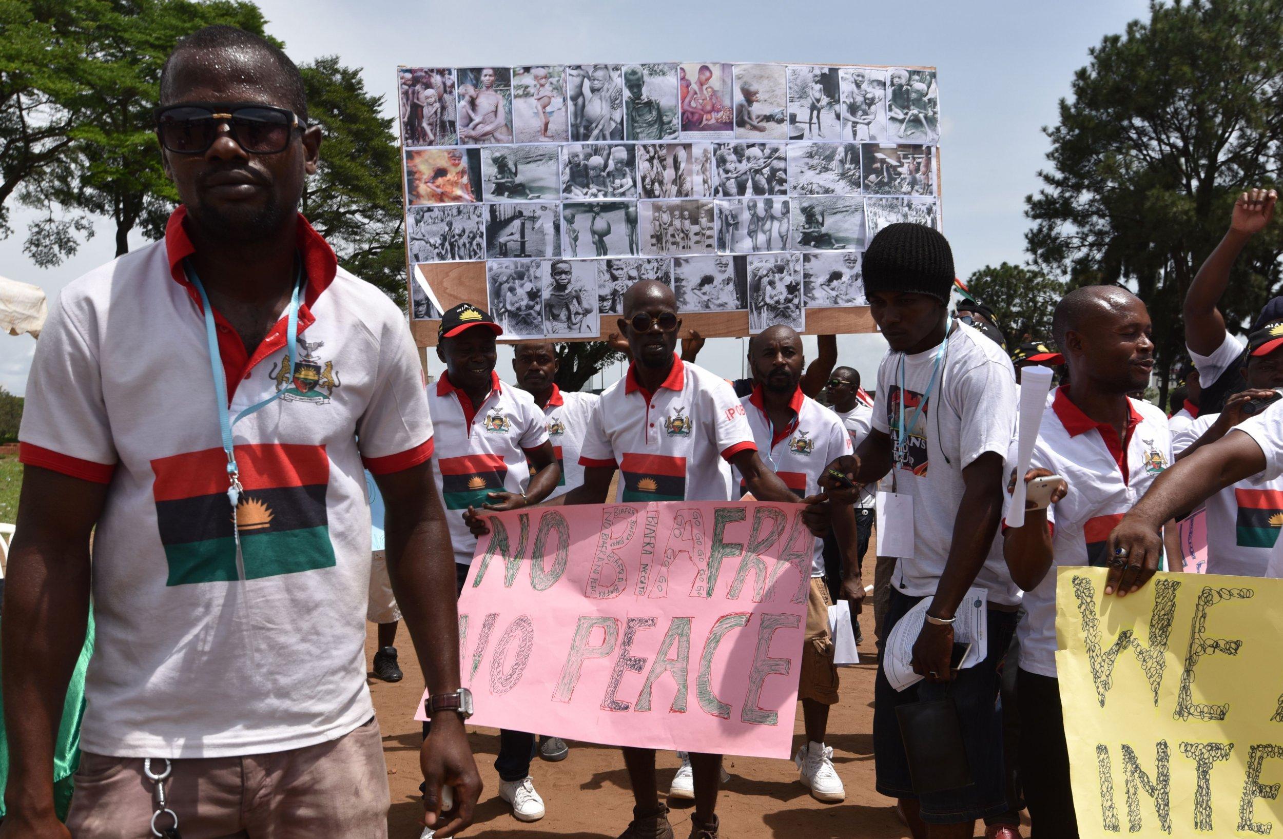 Biafra protest Ivory Coast