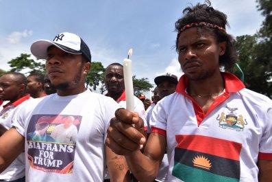 Biafra protest Abidjan