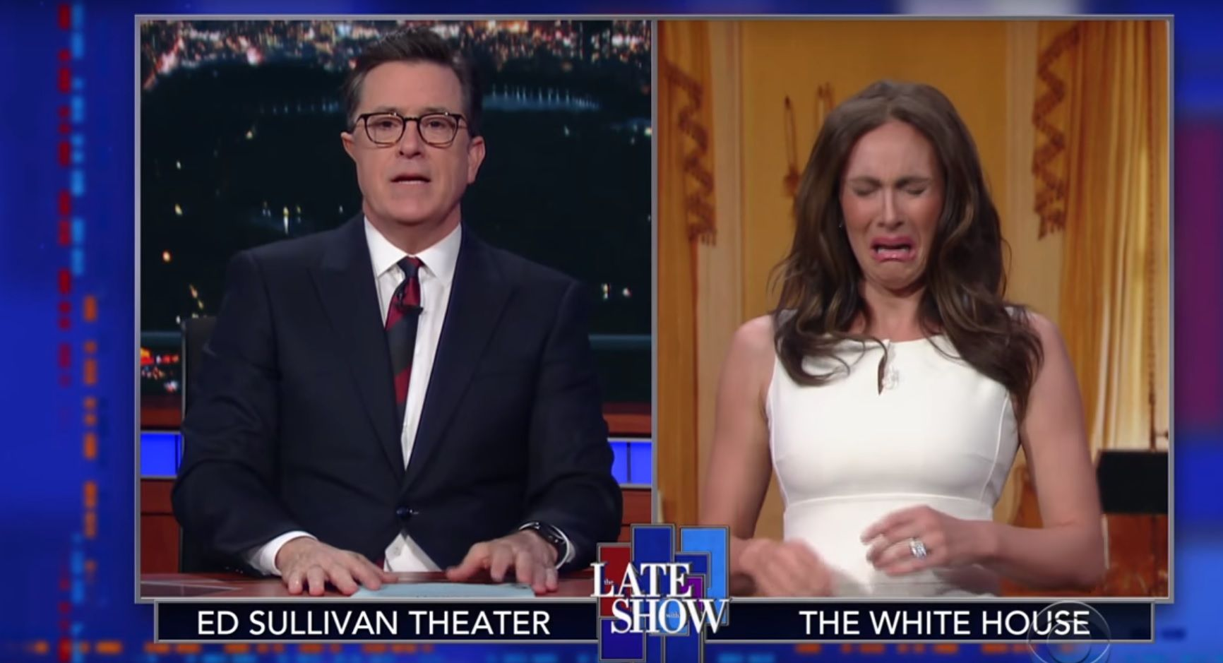 Melania Trump parody on The Late Show