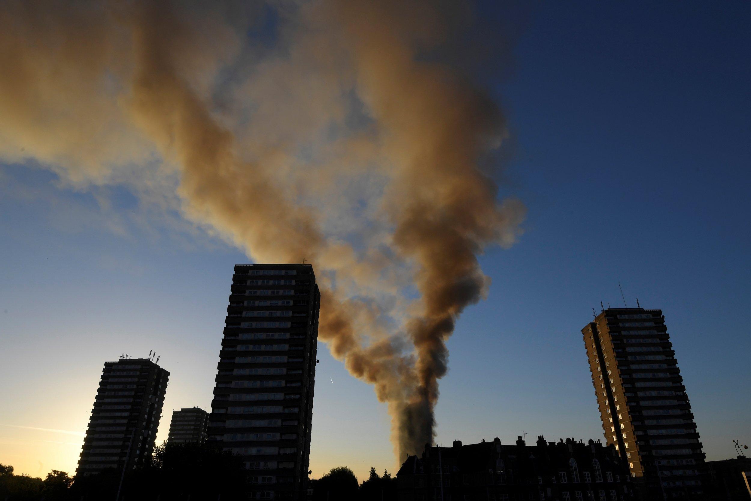 Fire in London apartment block